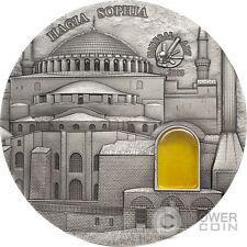 HAGIA SOPHIA Mineral Art Amber 2 Oz Silver Coin 10 Dollars Palau 2016