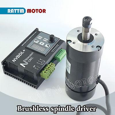 400W Brushless Spindle Motor ER8 60V DC & NVBDL+ 600W Driver Kit For CNC Router