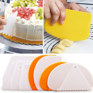 Details about Cake Decorating Cutters Baking Mold Edge Spatulas Pastry  Tools Dough Scraper