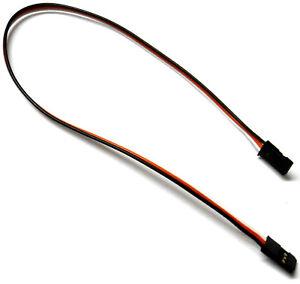 C2001B-5-30-cm-22AWG-Compatible-Con-Futaba-recto-Cable-de-extension-2-varones-RC