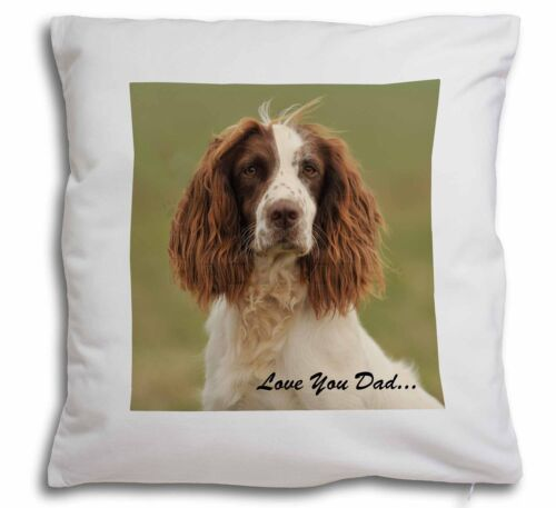 Springer Spaniel /'Love You Dad/' Soft Velvet Feel Cushion Cover With DAD-120-CPW