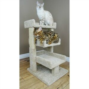 Cat Tree Condo Furniture House Scratching Post Pet Perch Tower Carpet 3 Tier New