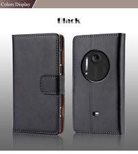 Vintage women men luxury genuine leather case for nokia lumia 1020 flip cover