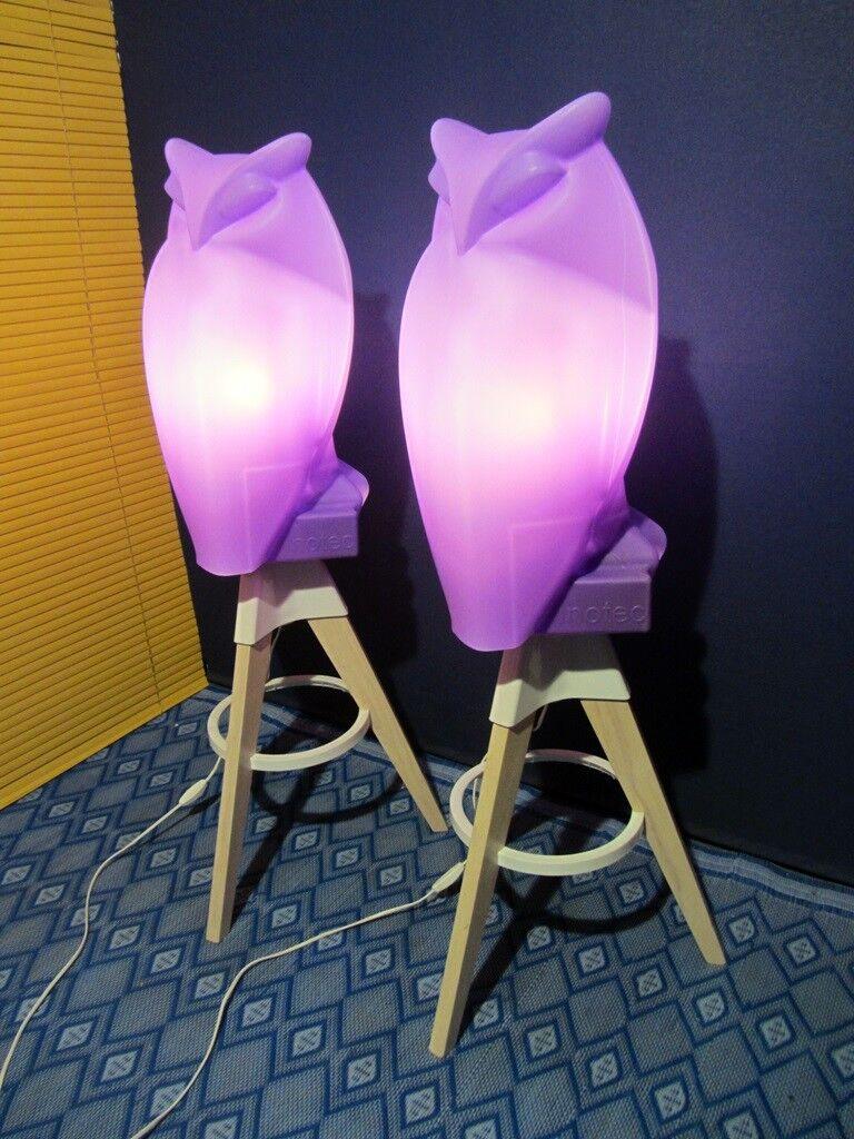 1 von 2 Elegante Stehleuchte Eule Retrodesign Stehlampe Standleuchte Lampe