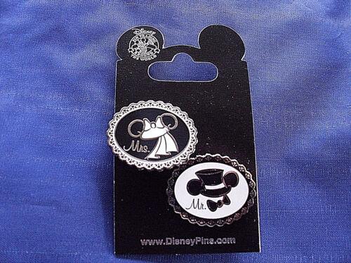 Mr /& Mrs Top Hat /& Wedding Veil * New 2-Pin Set Disney * MICKEY /& MINNIE