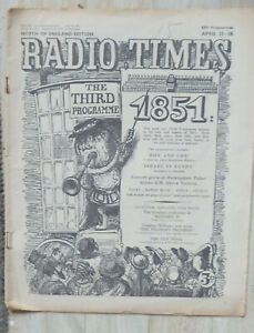 Media-magazine-Radio-Times-22nd-28th-April-1951-sound-schedules-only