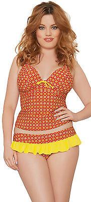 Curvy Kate Casablanca Halterneck Tankini Top Saffron32-38 D-HH Womens