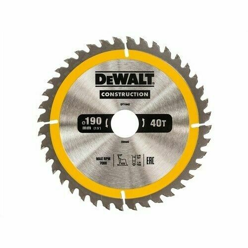 Construction Saw Blade 190mm 190 X 30mm 40T Construction Saw Blade New