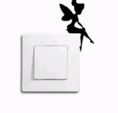 Fairy light switch decal sticker girl baby nursery home decor