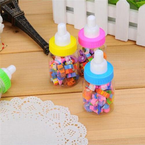28 Piece//Set Number Animal Shape Milk Bottle Eraser Stationery School Supplies