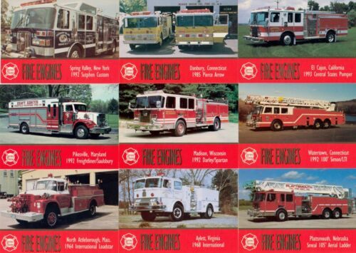 FIRE ENGINES SERIES 1 TO 5 1993-1998 BON AIR BASE CARD SET OF 500 BINDER TR