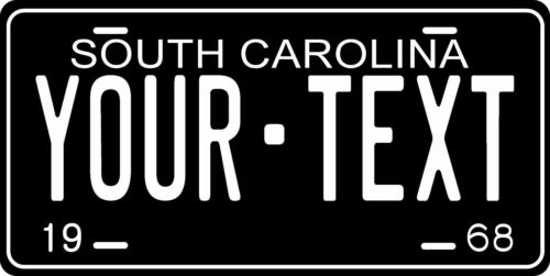 South Carolina 1968 License Plate Personalized Custom Car Bike Motorcycle Moped