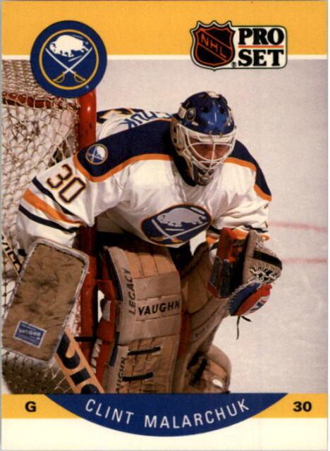 1990 91 Pro Set Buffalo Sabres Hockey Card 25 Clint Malarchuk Uer