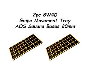 Game-Movement-Tray-2-pc-Trays-20mm-8W4D-Warhammer-40k-Age-of-Sigmar-2pc-set