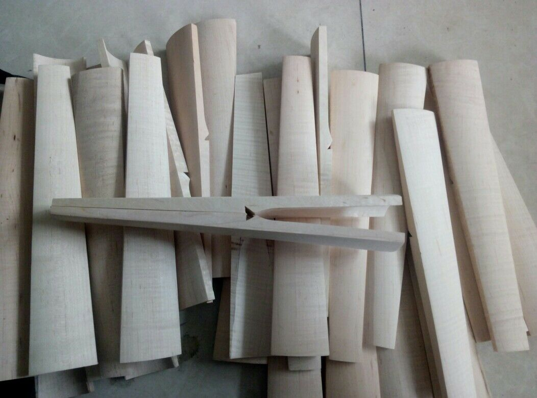 Violin part 10pcs Baroque style violin maple fingerboard 4 4