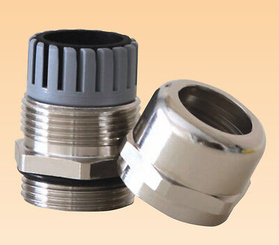 M12, M16, M20, M25, M32, M40, M50 - Brass Nickel Plated Cable Gland (2 Pcs)
