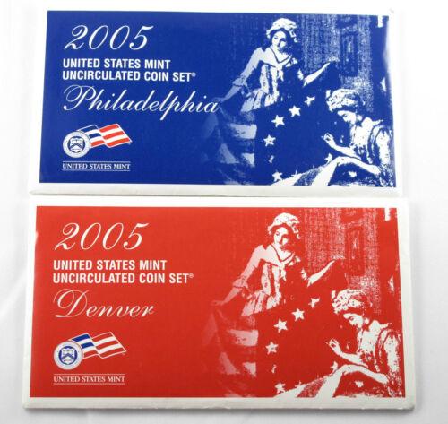 2005 US Mint Uncirculated set 22 coins New Original US Mint Packaging #U05
