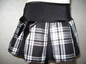NEW Baby Girls Black white tartan pleated Gothic Rock party Skirt ... 9064b4f29a5c