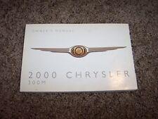 2000 Chrysler 300M Owner Owner's User Guide Operator Manual 3.5L V6