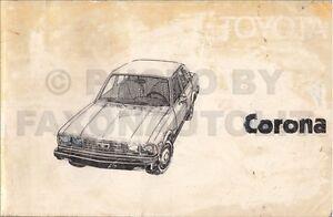 1979 toyota corona owners manual rt134 owner user instruction guide rh ebay ie 1980 Toyota Corona Toyota Carina