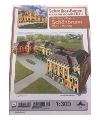 Schreiber-Bogen Modellbau Schloss Schönbrunn WienAue-Verlag 635Bastelbogen