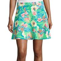 Decree Scuba Skater Skirt Size Xs, S, 1x Jr. Plus Tropical Hawaiian Green