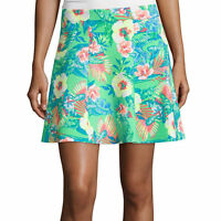 Decree Scuba Skater Skirt Size Xs, S, 1x Jr. Plus Tropical Hawaiian Green