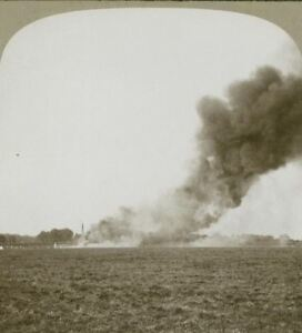 French-village-wantonly-set-on-fire-by-the-retreating-German-vandal-Stereoview
