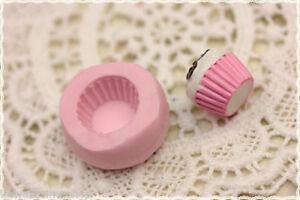 stampo in gomma per fimo cernit Cupcake 1cm*rubber mold for fimo