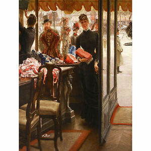 James-Tissot-La-Demoiselle-De-Magasin-Large-Canvas-Art-Print