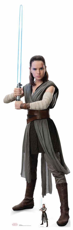 Rey Haltend Lichtschwert Star Wars The Last Jedi Lebensechte Größe Pappfigur | Neue Produkte im Jahr 2019  | Qualitätskönigin
