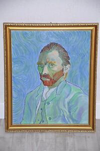 Reproduction Huile - Autoportrait Van GOGH - Self Portrait painting
