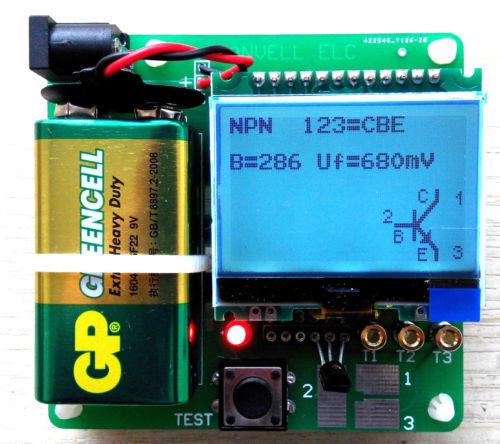 MG328 LCD Graphic Display Inductor Capacitor ESR DIY Multifunction Meter Tester