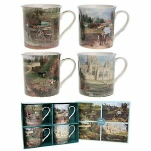 Constable-Set-Of-4-Fine-Art-China-Mugs-In-Matching-Gift-Box-Perfect-Gift
