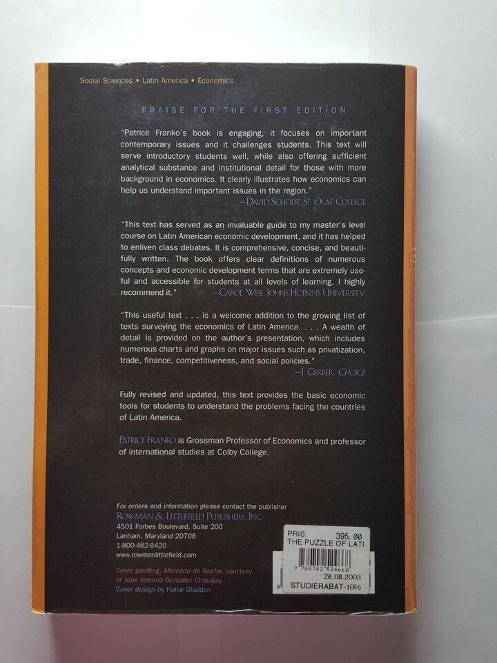 The Puzzle of Latin American Economic Development,
