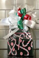 Candy Cane Tree Gift Box-basket Filled W/ Candy & Wrapped W/ Bow & Card
