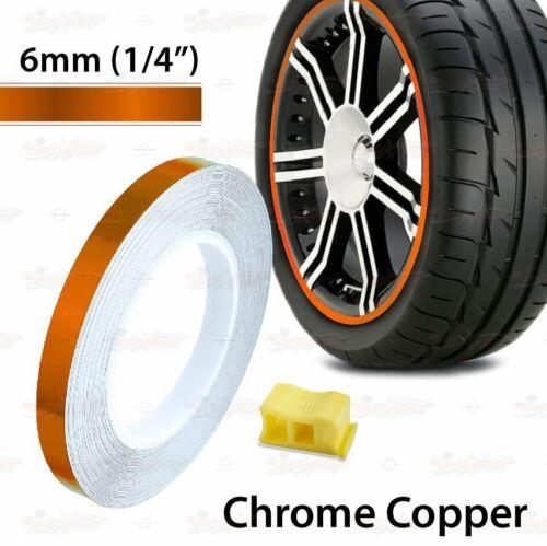 "6mm 1//4/"" 0.25/"" PIN STRIPE Striping Car Motorcycle WHEEL RIM Decal Vinyl Stickers"