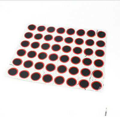 48pcs JT25 Rubber Patch Bicycle Bike Tire Tyre Puncture Repair Piece 25mm Round