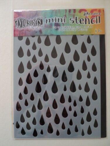 """Ranger Dylusions por Dyan Reaveley Mini Stencil gotas de lluvia 4/"""" X 6/"""" BNIP Para ver *"""