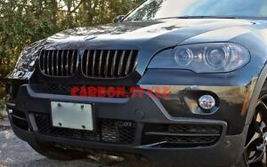 glossy black bmw x5 e70 x6 e71 m nieren k hlergrill sport front grill 30d 40d ebay. Black Bedroom Furniture Sets. Home Design Ideas