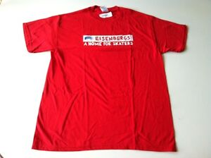 Eisenbergs-034-A-HOME-FOR-SKATERS-034-Tee-Shirt-LARGE-RED-NEW-BLUE-ARE-FLOOR-MODELS