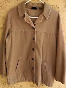 Style-amp-Co-Petite-Womens-Corduroy-Jacket-Size-M-Medium-Lined-Button-Front-Cotton