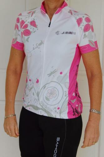 Cycling Bike Jersey Pink White Black Sport Jacket Zip off Sleeves Women SM L XL