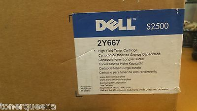 NEW GENUINE Dell S2500 Printer 2Y668 HIGH YIELD BLACK Toner Cartridge