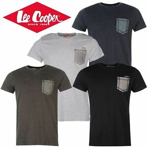 Tee-Shirt-Homme-034-LEE-COOPER-034-col-rond-Poche-poitrine-Polo-Neuf