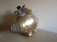 Sparschwein XXL Geldgeschenk Goldenen Hochzeit Briefbox Kartenbox Umschlagbox