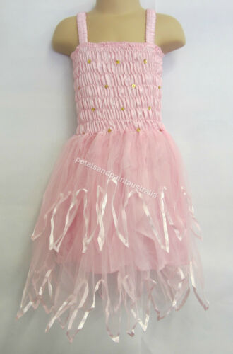 Fairy Dress With Wings Ballet Tutu Dance Costume Pink 4-6 Years Polyester Tulle