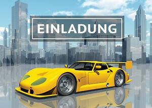 Einladungskarten Rennauto Kindergeburtstag Jungen Rennwagen