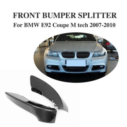 Carbon Fiber Front Splitter Bumper Lip For BMW E92 335i Coupe M tech 2007-2010