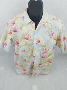 6335f2632 Image is loading Nautica-Light-Blue-Flower-Floral-Medium-Short-Sleeve-